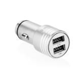 GoGEN kovový bezpečnostní hrot, 2x USB stříbrný