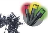EMOS 240 LED, 24m, řetěz, vícebarevná, časovač, i venkovní použití