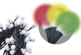 EMOS 200 LED, 20m, řetěz (kulička), vícebarevná, časovač, i venkovní použití
