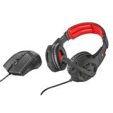 Trust GXT 784 headset + myš černý/červený