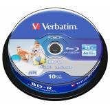 Verbatim Printable BD-R SL 25GB, 6x, 10-cake