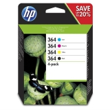 HP 364 - multipack(černá, purpurová, azurová, žlutá)