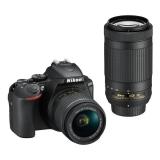 Nikon D5600 + 18-55 AF-P VR + 70-300 AF-P VR černý + dárek
