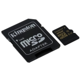 Kingston MicroSDHC 32GB UHS-I U3 (90R/45W) + SD adapter černá