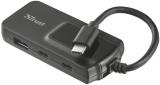 Trust USB-C / 2x USB 3.0 + 2x USB-C černý