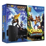 Sony PlayStation 4 SLIM 500GB + Crash Bandicoot + Ratchet & Clank  černá