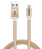 ADATA USB/micro USB, 1m, pletený zlatý