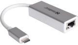 Sandberg RJ45 / USB-C stříbrná
