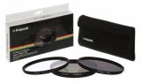 Polaroid 52mm (UV MC, CPL, ND9), set 3ks černý