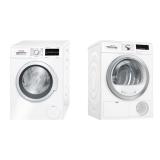 Set (Automatická pračka Bosch WAT28467CS) + (Sušička prádla Bosch WTH85290BY)
