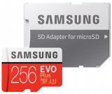 Samsung Micro SDXC EVO+ 256GB UHS-I U3 (100R/90W) + adapter