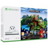 Microsoft Xbox One S 500 GB + Minecraft, Minecraft Story Mode, 3 měsíční Zlaté členství Xbox Live + dárek