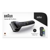 Braun Series 3 3040s W&D +toaletní taška+pouzdro+gel na holení bílý