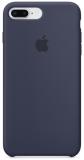 Apple Silicone Case pro iPhone 8 Plus / 7 Plus - půlnočně modrý