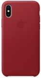 Apple Leather Case pro iPhone X (PRODUCT)RED červený