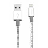 Verbatim Sync & Charge USB/Lightning, 1m, MFi, nerezová ocel stříbrný