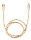Verbatim Sync & Charge Lightning, 1m, MFi, nerezová ocel zlatý