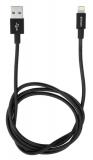 Verbatim Sync & Charge USB/Lightning, 1m, MFi, nerezová ocel černý