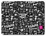 Connect IT Doodle malá, 32 x 26 cm černá/bílá