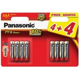 Panasonic Pro Power AAA, 4+4 ks