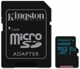 Kingston Canvas Go! MicroSDXC 128GB UHS-I U3 (90R/45W) + adapter