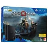 Sony PlayStation 4 SLIM 1TB + God of War černá