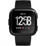 Fitbit Versa (NFC) - Black / Black Aluminum