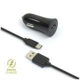 FIXED 1x USB, 2,4A + USB-C kabel černý