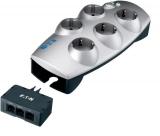 Eaton Protection Box Tel+TV, 5x zásuvka, 1,8m stříbrná
