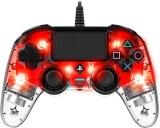 Nacon Wired Compact Controller pro PS4 červený/průhledný