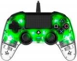 Nacon Wired Compact Controller pro PS4 zelený/průhledný