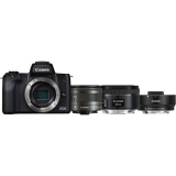 Canon EOS M50 + M 15-45 IS STM + obj. 50/1.8 + ADAPTER černý + dárek