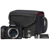Canon EOS M50 + EF-M15-45 + SB130 + 16GB karta černý