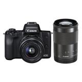 Canon EOS M50 + EF-M15-45 + EF-M55-200 černý