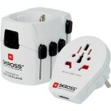 SKROSS PRO World & USB, 6,3A, (PA41) bílý