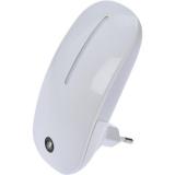 Solight se světelným senzorem, 1 W, bílá