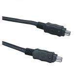 LAMA KW020440QL FireWire, 4pin/4pin, 2 m černý
