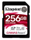 Kingston Canvas React SDXC 256GB UHS-I U3 (100R/80W)