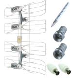 Solight DVB-T anténa - síto, VHF/UHF, 35dB vč. zesilovače