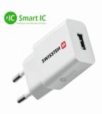 Swissten 1x USB 2,1A bílá