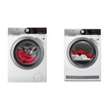 Set (Sušička prádla AEG AbsoluteCare® T8DEE68SC) + (Automatická pračka AEG ProSteam® L7FEE68SC)