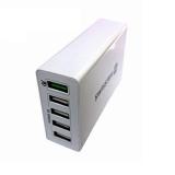 Swissten Qualcomm 3.0 Quick Charge, Smart IC, 5× USB bílá