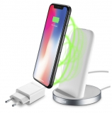 CellularLine Wireless Fast Charger Stand bílá