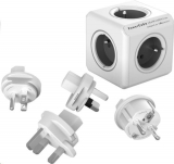 Powercube Rewirable + Travel Plugs - šedý šedý