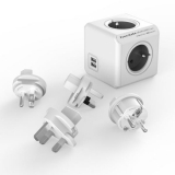 Powercube Rewirable USB + Travel Plugs - šedý šedý