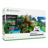 Microsoft Xbox One S 1 TB + Minecraft + Explorer's Pack + Minecraft: Story Mode - The Complete Adventure bílá