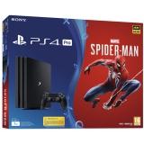 Sony PlayStation 4 Pro 1TB + hra Spider-Man černý