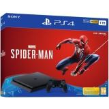 Sony PlayStation 4 1TB + hra Spider-Man černý