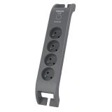 Philips SPN3140A/60 4x zásuvka, 2m šedá