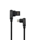 GoGEN USB/Lightning, 1m, oboustraný, opletený černý